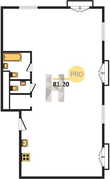 3-комнатная квартира в ЖК Ленинградка 58