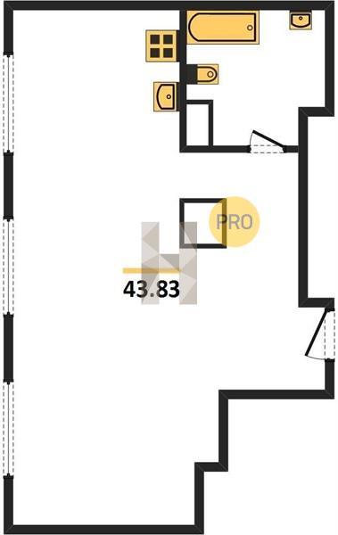 1-комнатная квартира в ЖК Домашний