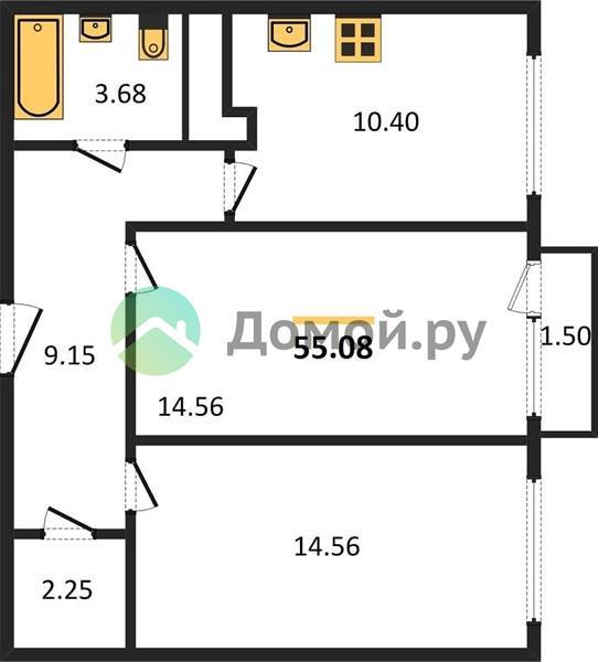 2-комнатная квартира в ЖК Катуар