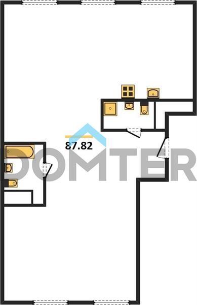 3-комнатная квартира в ЖК Домашний