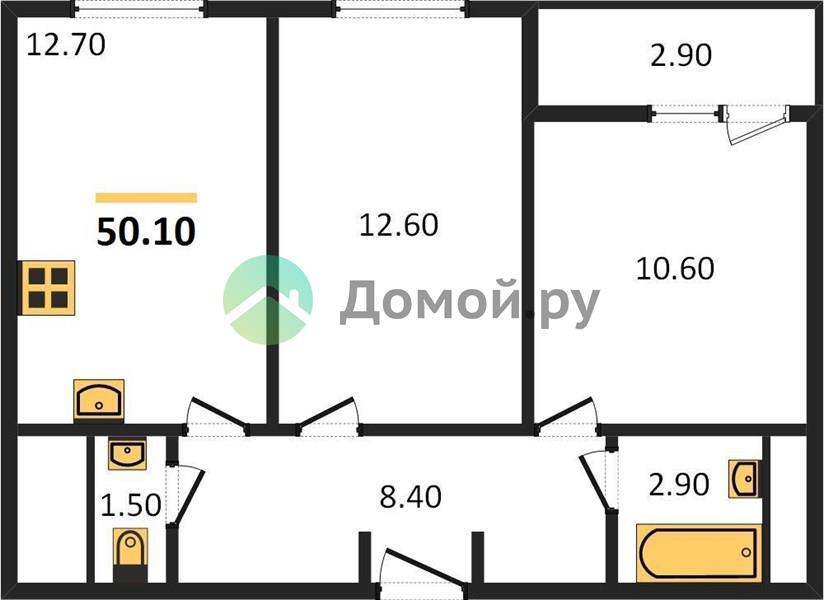2-комнатная квартира в ЖК Спутник в Строгино