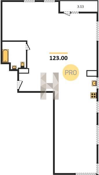 3-комнатная квартира в ЖК Резиденции архитекторов