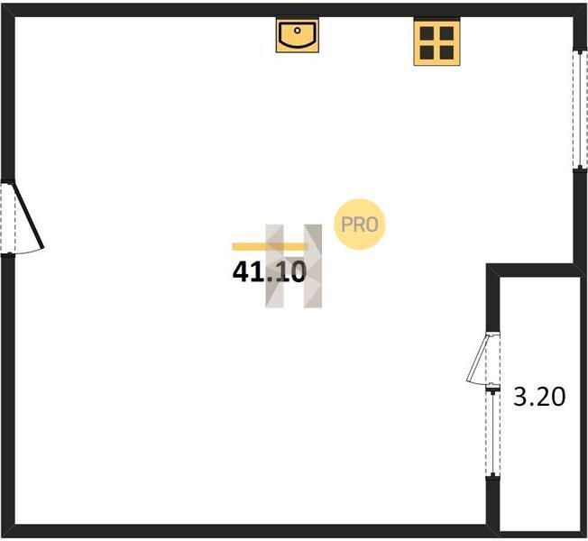 1-комнатная квартира в ЖК Летний Сад