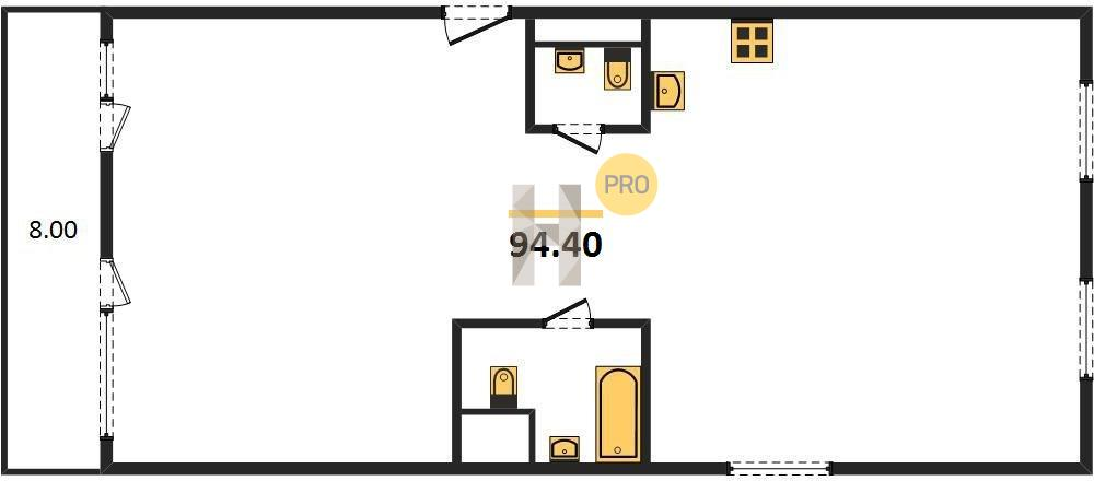 3-комнатная квартира в ЖК Сиреневый парк