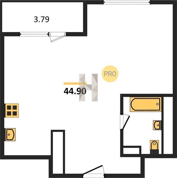 1-комнатная квартира в ЖК Парк Легенд