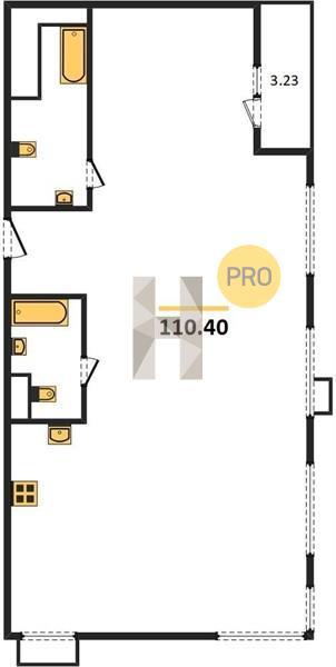 4-комнатная квартира в ЖК Резиденции архитекторов
