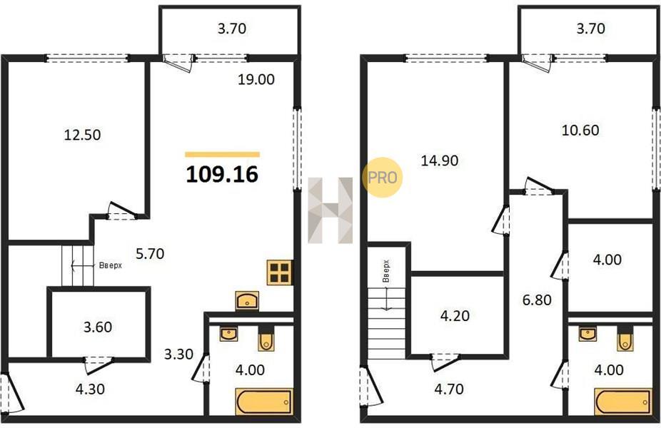 3-комнатная квартира в ЖК Первый квартал